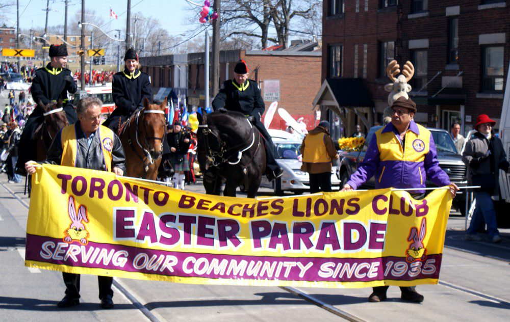The Beaches Lions prepare to launch the parade at two o'clock Sunday.