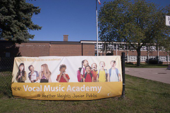 The TDSB academies program is used to fill out schools with declining enrolment, such as Heather Heights Junior Public School.