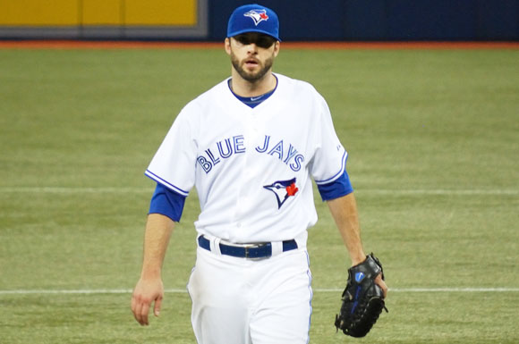 Brandon Morrow pitched seven shutout innings as the Jays cruised to a 6-0 victory on Thursday