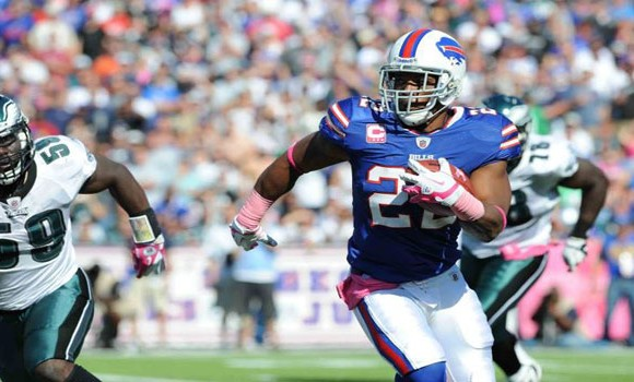 Bills running back Fred Jackson will be out for at least four weeks with a strained knee ligament.
