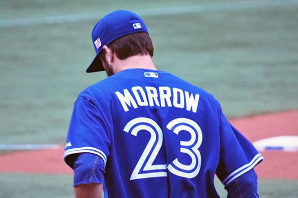 Brandon Morrow struggled into the fifth inning on Tuesday against his former team.