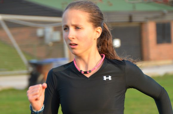 Richview runner Jillian Sprenger, midget city champion last year in cross-country, moves into the juniors ranks this month.