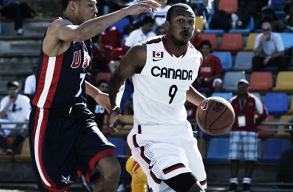 Canada's Troy Reid-Knight at the U18 FIBA 3x3 tournament