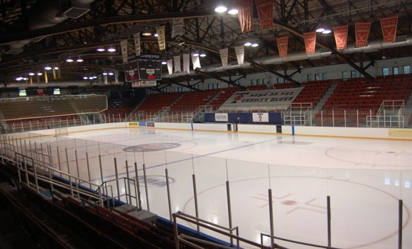 Varsity Arena, the home of the University of Toronto Varsity Blues (OUA)