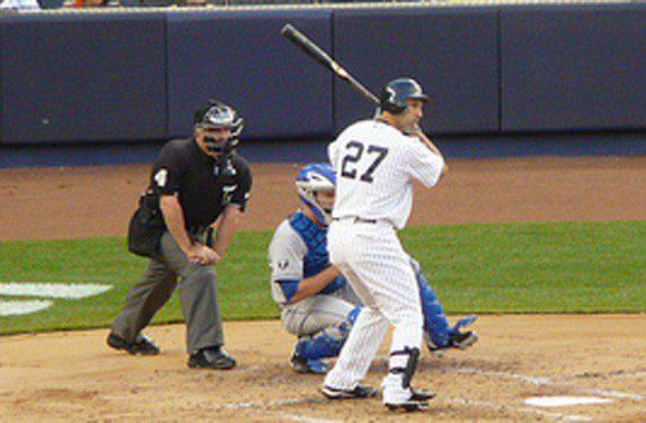 New York Yankees outfielder Raul Ibanez.