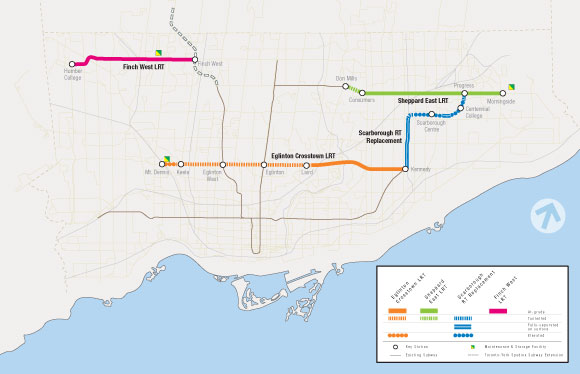 Students at University of Toronto Scarborough say they're upset with the city's latest LRT map, which shows the currently approved TTC lines but not the proposed Scarborough Malvern line they were pitched by former mayor David Miller.