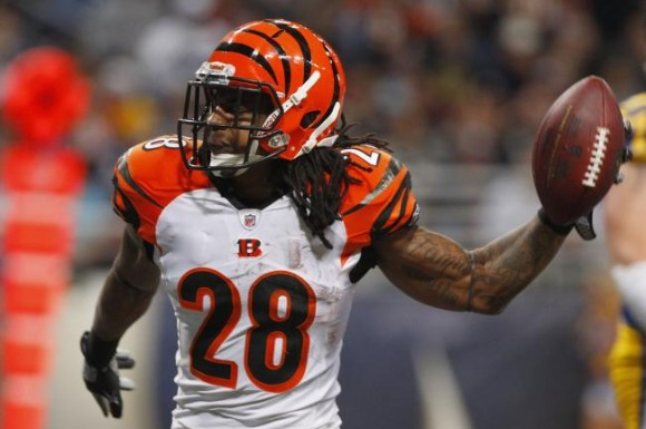 Cincinnati Bengals running back BenJarvus Green-Ellis has three fumbles and 3.4 yards per rush attempt on the season.