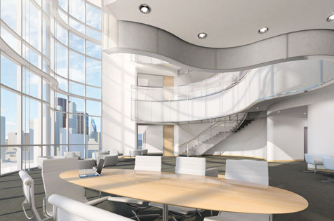 The design for SickKids Centre for Research and Learning includes open and naturally lit spaces to encourage scientists to collaborate with each other.