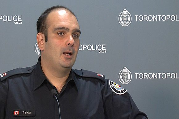'Listen to your gut,' Const. Tony Vella tells seniors through the media at a recent press conference about a series of distraction thefts targeting them across the GTA since July.