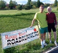 Rouge River Roadrunners Tony Sobczak and Alan Carter meet up before one of their three weekly runs last year.