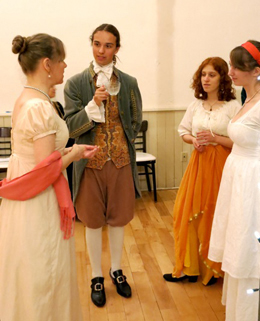 English Country Dancers in costume at the 2012 Christmas Ball.