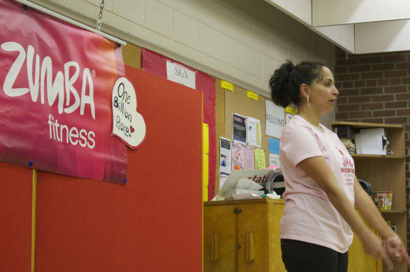 Zumba instructor Dawn D'Sa takes part in a global effort to end violence against women