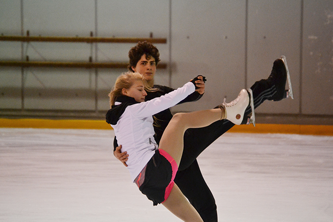 Piper Gilles and Paul Poirier train at the Ice Galaxy ahead of the World Championships. The ice dance pair call the Scarboro Figure Skating Club home.