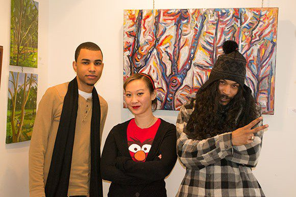 Seth Dyer (Left) and Troy Beharry (right) are participants of the Scarborough Arts program the EAST project. Jen Fabico (middle) is the coordinator of the program. Both Dyer and Beharry say the program has given them the opportunity to pursue a future in music.