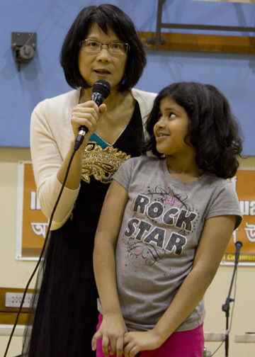 NDP MP Olivia Chow speaks at the event.