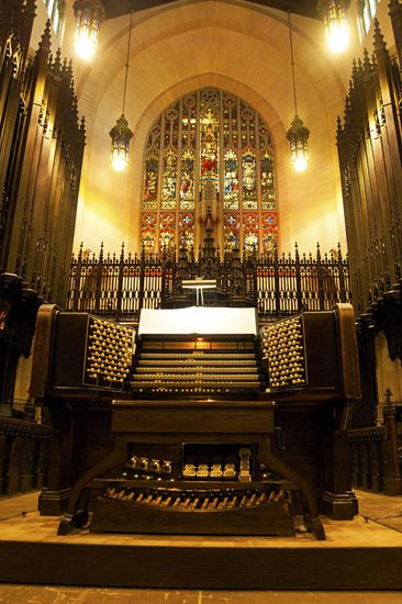 The oldest organ in Canada still in use at Toronto's Metropolitan United Church.