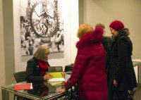 Alexandra Palmer signs books at the Royal Ontario Museum lecture February 9, 2013.