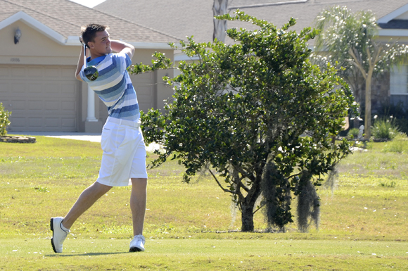Ben Stow of Salisbury, England tied for 14th at the USF Invitational golf tournament at Dade City, Florida.