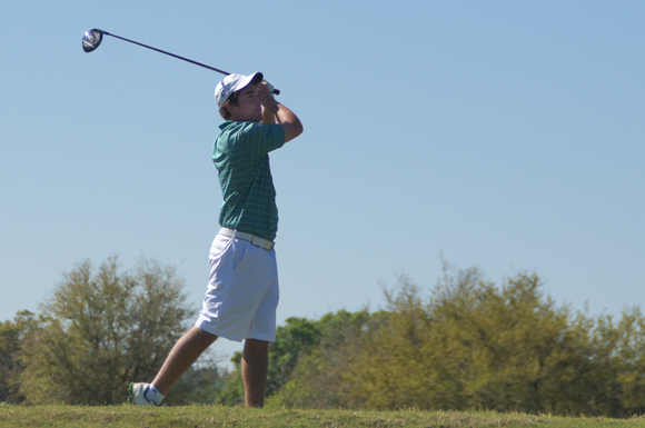 Eastern Michigan University's Brian Churchill-Smith shot eight over par on the final day of the USF Invitational golf tournament at Dade City, Florida.