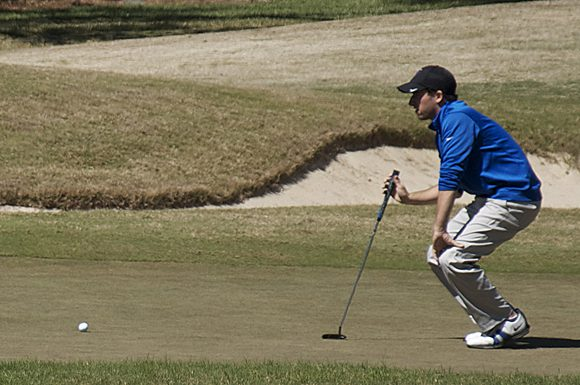 Toronto native Russell Budd hit the links at Dade City, Florida for DePaul University during the University of South Florida Invitational on Monday.