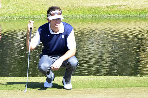 Rice University's Tommy Economou shot a five over par on the final day of play at the USF Invitational golf tournament at Dade City, Florida.