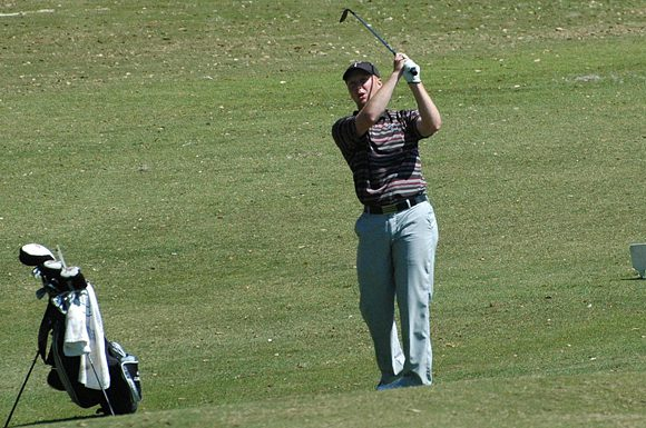 Troy University's Wil Clowdus shot a two over par 74 on the final day of the USF Invitational golf tournament at the Lake Jovita Golf and Country Club, in Dade City, Florida, Tuesday.