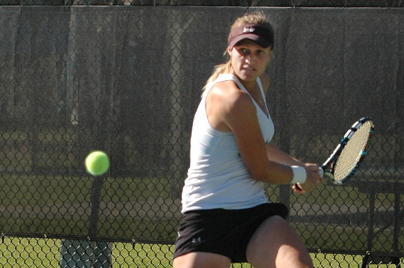 Moldova's Katie Vasenina plays No. 1 for the University of South Florida womens' tennis team.