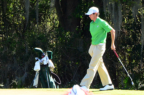 Chase Koepka tied for 10th place overall at the USF Invitational golf tournament at Dade City, Florida.