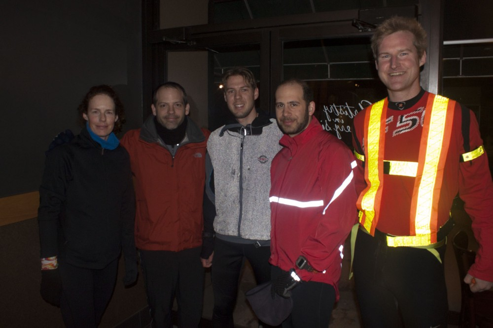East York Runners (from left): Jennifer Ridgeway, Paul Kavanagh, Mic Whitehorn, Oscar Strawczynsk, Patrick Mulroney