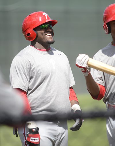 Phillies' prospect Larry Greene has been drawing inspiration from the birth of his son.
