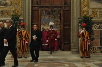 Fr. Thomas Rosica, the last one to leave the Sistine Chapel before the first voting session of the Conclave began on March 12, 2013