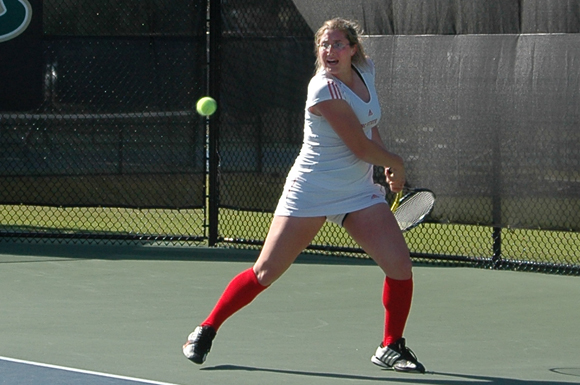 Pennsylvania's Joelle Kissell helped power North Carolina State University to its eighth straight NCAA womens' tennis victory
