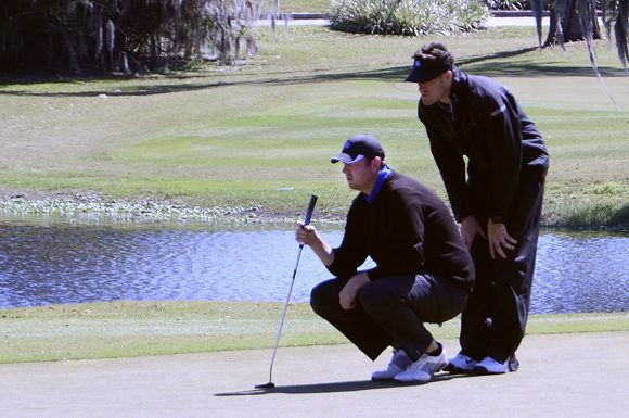 Stephen Powers, and his coach Jessie Mudd, carried the colours for the University of Kentucky Wildcats during the University of South Florida Invitational at Lake Jovita, Florida.