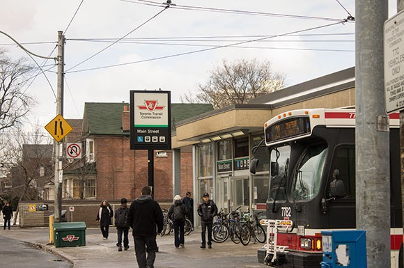 TTC's Main Street station is only a few hundred metres from the GO Danforth station.