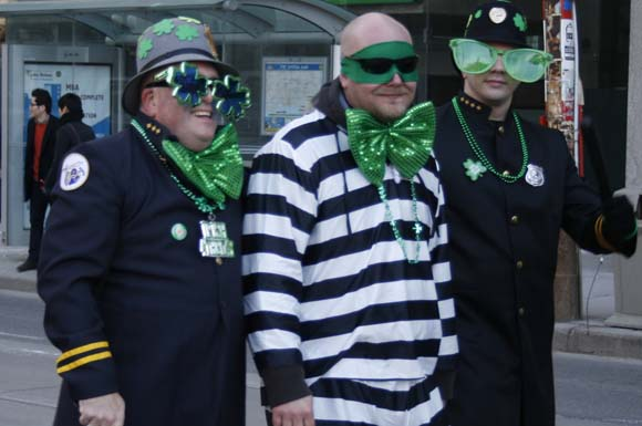 Downtown Toronto was awash in green Sunday for the annual St. Patrick's Day parade.