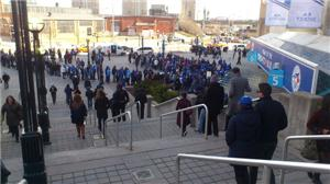 Fans lining up to attend Toronto Blue Jays home opener April 2, 2013
