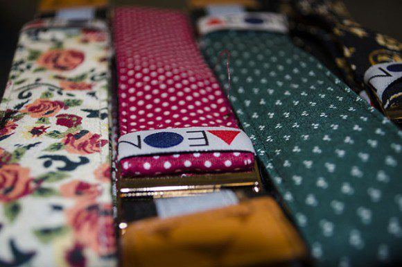 Some of the floral tapers that Aeon Attire has launched for spring.