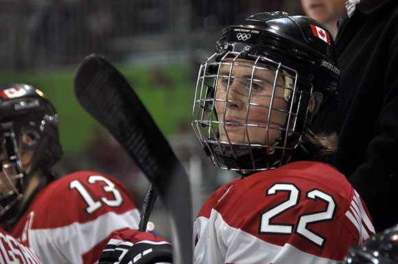 Team Canada captain Hayley Wickenheiser is day-to-day with an upper-body injury.