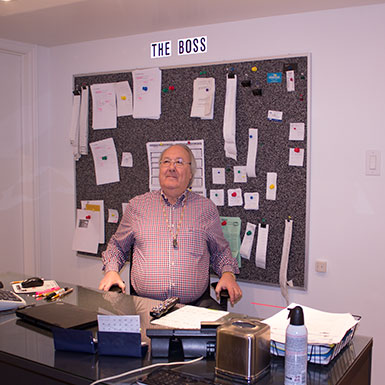 Russell Oliver, the Cashman, in his office