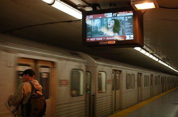 TUFF screens the winning films on a screen on a TTC platform on Monday, September 16.