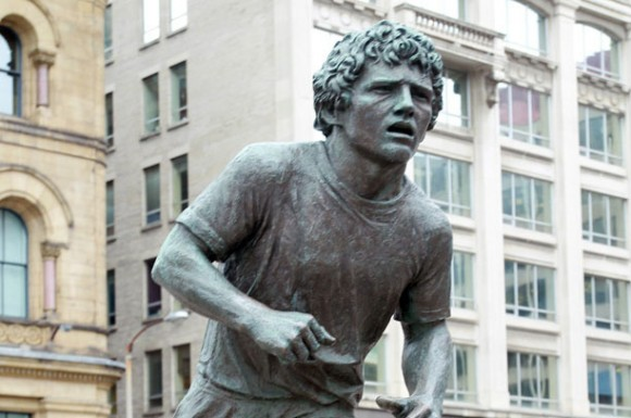 A statue of Terry Fox, a young man who wanted to make a difference (courtesy of Alex Guibord)