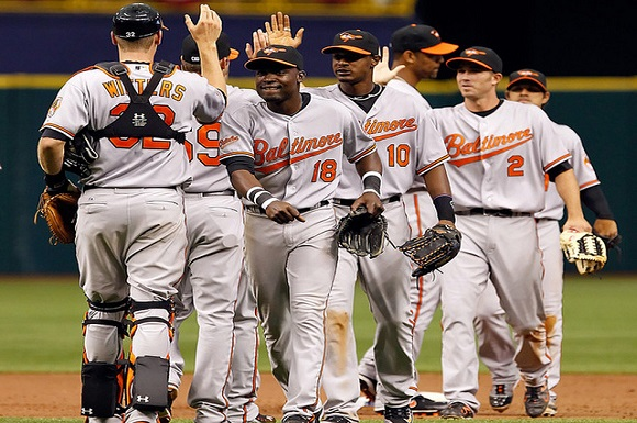 Orioles take two of three from the Jays, moving closer to the Rangers and Rays for an AL wildcard spot (erangi2, Flickr)