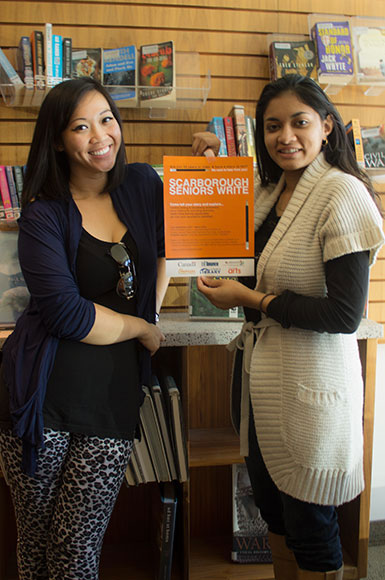 Jen Fabico and Dania Ansari from Scarborough Arts were excited about the launch of their new workshop.