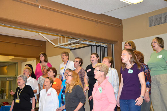 The Scarborough Sweet Adelines Chorus perform four-part harmony a cappella. The 20-member group rehearse Wednesdays from 7 to 9:30 p.m. at St. Paul's L'Amoreaux Church.