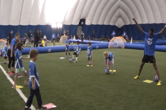 At Soccerworld Toronto located at Polson Pier, Lil' Strikers teaches youngsters a healthy lifestyle through sport.