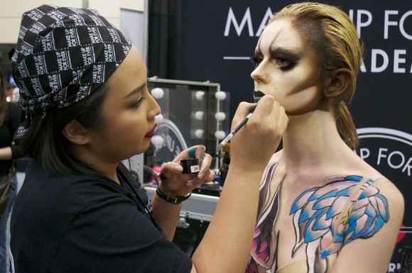 A graduate from Make-Up Forever Academy in NYC recreates her final project