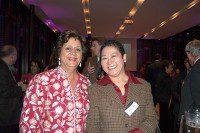 Dr. Dhun Noria, left, with Arlyne Tiam.