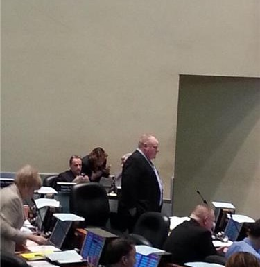 Mayor Rob Ford vows he will not take a leave of absence at Wednesday's city council meeting.