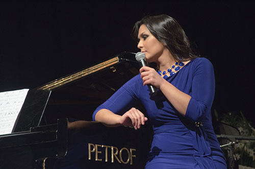 Former Canadian Idol Martha Joy sings during her fundraising concert.