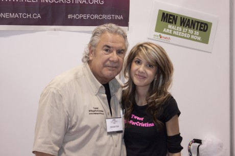Cristina Di Corte, right, with her father, is working with OneMatch to find a stem cell match to save her life.